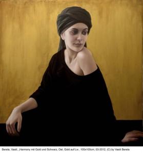 Berela-Vasili-Harmony-mit-Gold-und-Schwarz-Oel-mit-Gold-auf-Lw-100x100cm-03-2012