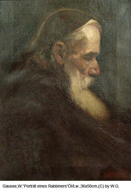 Gausse-Wilhelm-Portraet-eines-Rabbiners-Oel-auf-Leinwand-36x50cm-um-1890