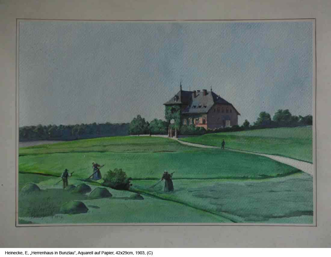 Heinecke-E.-Herrenhaus-in-Bunzlau-Aquarell-auf-Papier-42x29cm-1903