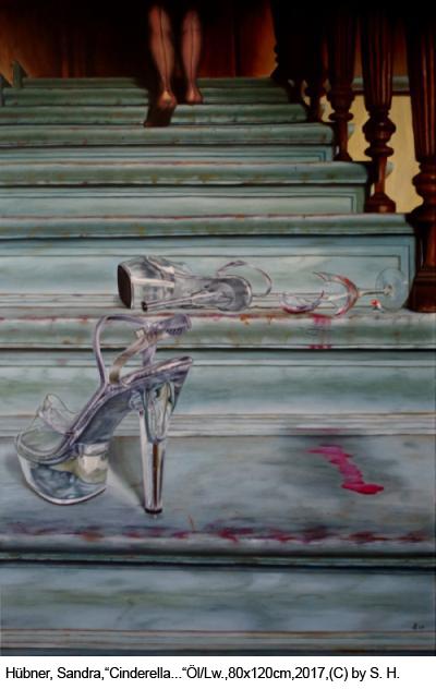 Huebner-Sandra-Cinderella-tindert-wieder-80x120cm-Oel-Lw-2017