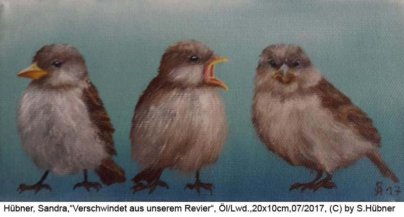 Huebner-Sandra-Verschwindet-aus-unserem-Revier-Oel-Lw-20x10cm-2017