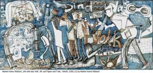 Kerns-Roebbert-Marion-Wir-sind-das-Volk-Wachsstifte-auf-Papier194x89cm-2009
