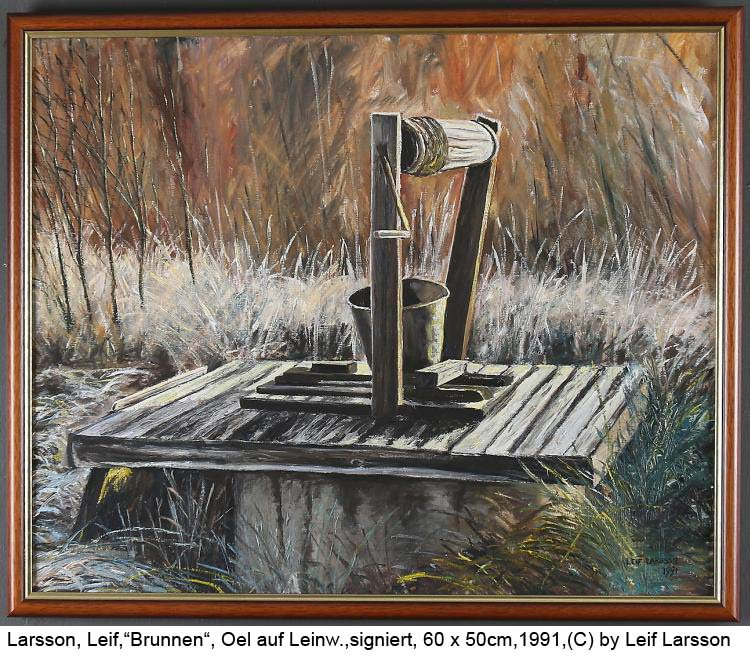 Larsson-Leif-Brunnen-Oel-auf-Leinwand-signiert-60-x-50cm-datiert-1991