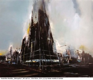 Meintke-friedeRike-Metropolis-I-Mt.-Acryl-Tusche-Asphaltlack-Bitumen-oel-auf-Lw.-120x100cm-2014
