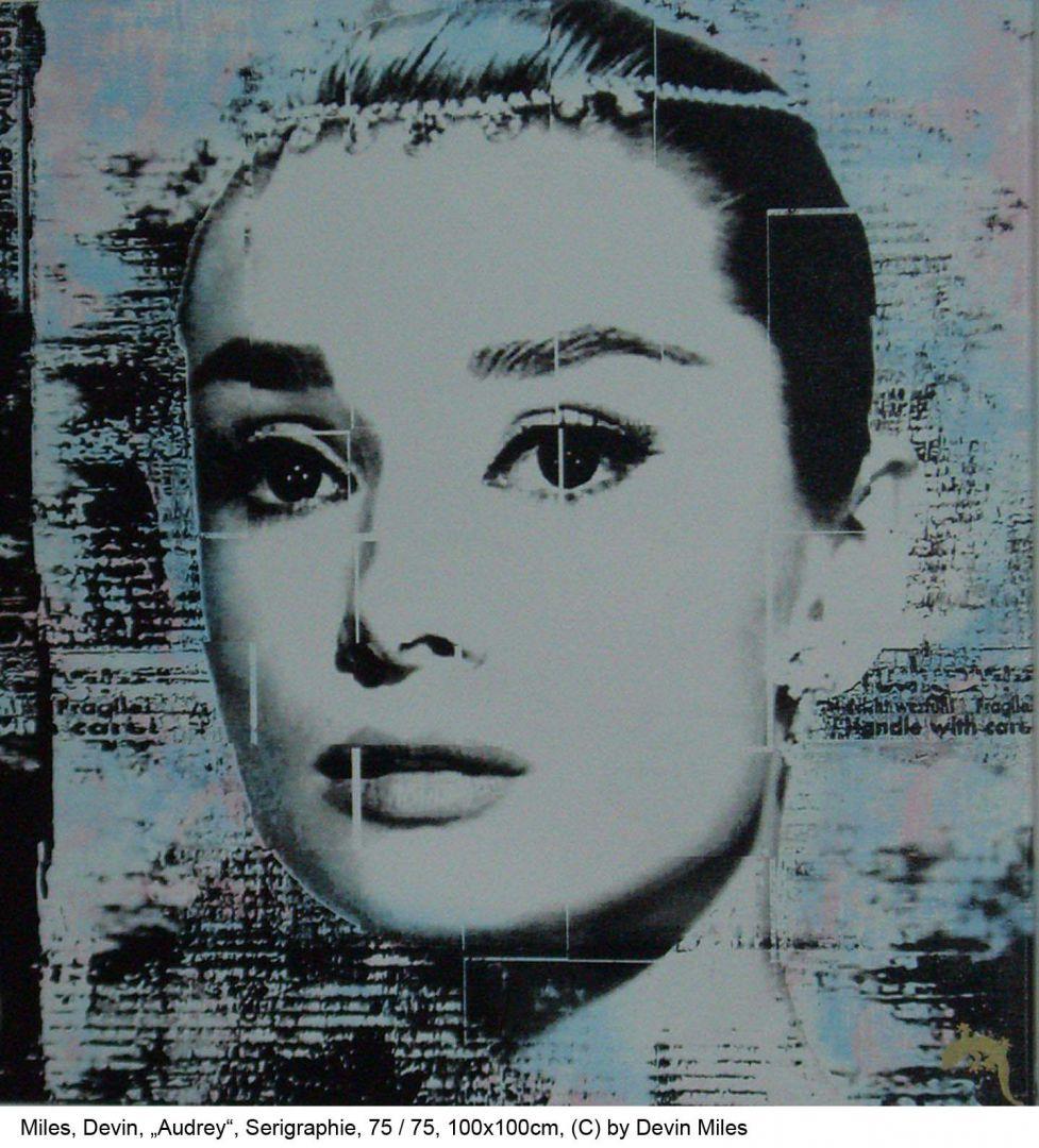Miles-Devin-Audrey-Serigraphie-75-von-75-100x100cm-2007