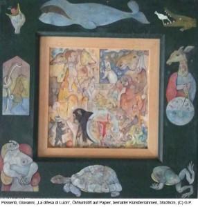 Possenti-Giovanni-La-difesa-di-Luzin-Oel-Buntstift-auf-Papier-20x20cm-2013