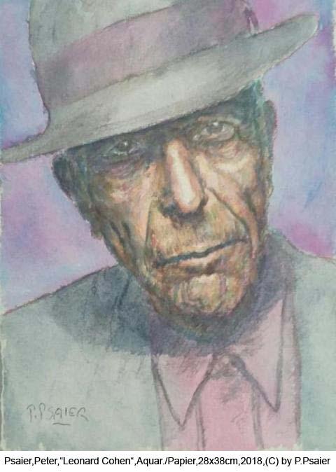 Psaier-Peter-Leonard-Cohen-Aquarell-auf-Papier-28cm-x-38cm-01-2018