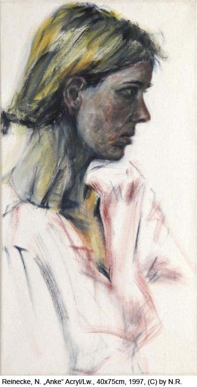 Reinecke-Nikolaus-Anke-Acryl-auf-Baumwolle-40x75cm-1997