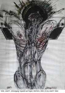 Seitz-J.-F.-Kreuzigung-Aquarell-auf-Papier-50x70cm-2003