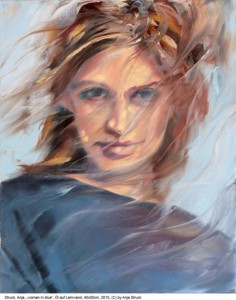 Struck-Anja-Neu-woman-in-blue-Oel-auf-Lw-40x50cm-2015