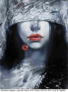 Sugintas-Stanislavas-Lady-with-Cherry-Oil-on-Canvas-33x40cm-2013
