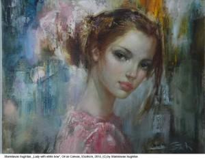 Sugintas-Stanislavas-Lady-with-white-bow-Oil-on-Canvas-55x45cm-2014
