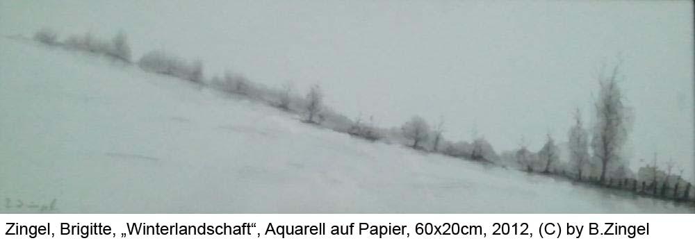 Zingel-Brigitte-Winterlandschaft-bei-Northen-Aquarell-auf-Papier-60cm-x-20cm-2012