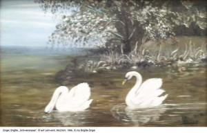 Zingel-Brigitte-Schwanenpaar-Oel-auf-Lw