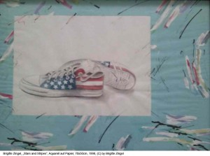 Zingel-Brigitte-Stars-and-Stripes-Mt.-auf-Papier-70x55cm-1998